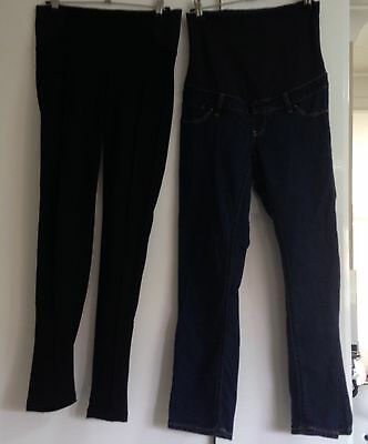 2 x TARGET MATERNITY PANTS AND LEGGING SIZE 8