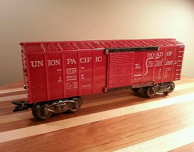 Marx 186028 Boxcar, Road of the Streamliners; VG+,