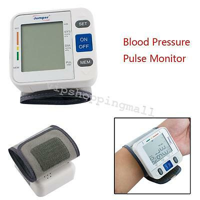 High Quality Digital LCD Automatic Wrist Blood Pressure Pulse Monitor Home Use