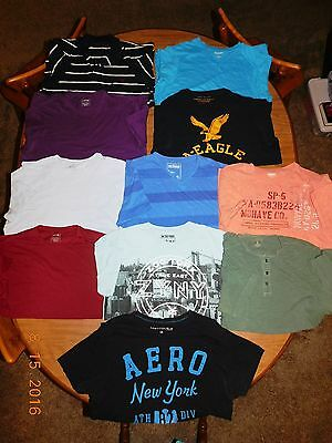 Men's Shirts, T-Shirts & Polo & Henley, Size L (Lot of 11)