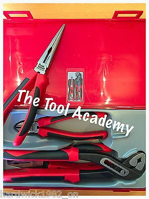 CLEAROUT!!  Teng Tools TPR PLIER SET 4 Pce Plier Grip Cutter Tool Set In Case