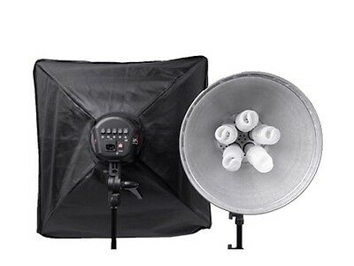 Interfit Super Cool Lite 5 Twin Head Kit Photography Studio Continuous Lights