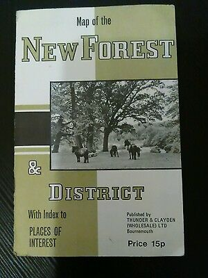 Map of new forest and district published by thunder and clayden