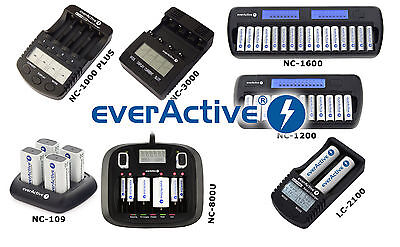 Everactive Chargeur NC 1000 Plus 3000 800U 109 1200 1600 pour AA AAA 9V C D