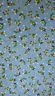 Disney Bettwäsche bedding Micky Mickey Maus vintage fabric 80s 90s football