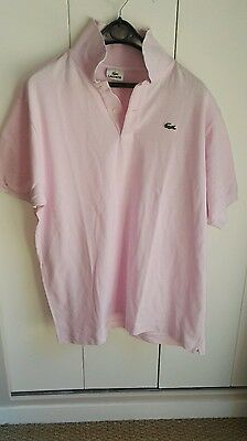 polo homme LACOSTE rose taille 7