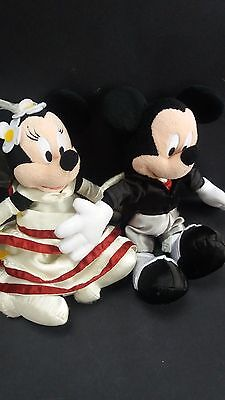 Minnie And Mickey Mouse Bride And Groom Soft Toys Disney Land Paris