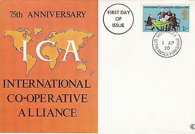 GB 1970 International Co-operative Alliance 75th Anniversary FDC Unaddressed