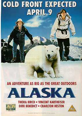 A4 Original Advert for the Video Release of Alaska Charlton Heston Thora Birch