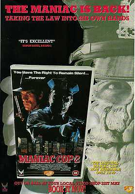 A4 Original Advert for the Video Release of Maniac Cop 2