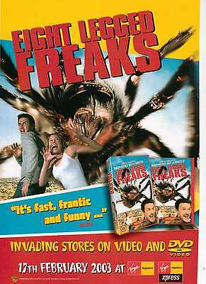 A4 Original Advert for the DVD Release of Eight Legged Freaks