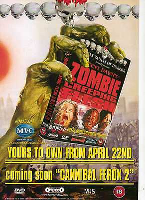 A4 Original Advert for the Video Release of Zombie Creeping Flesh