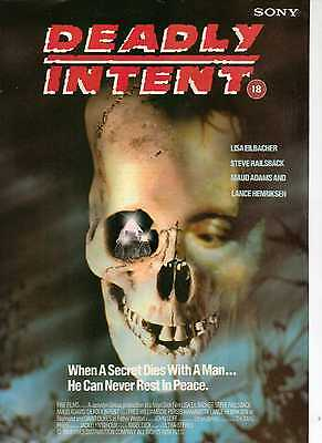 A4 Original Advert for the Video Release of Deadly Intent