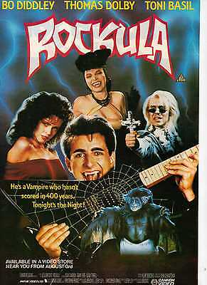 A4 Original Advert for the Video Release of Rockula