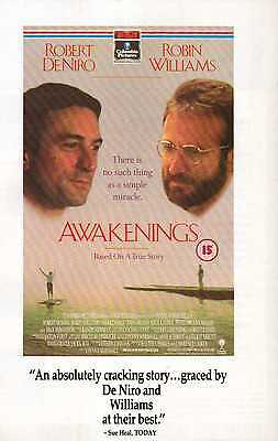 A4 Original Advert for the Video Release of Awakenings Robin Williams