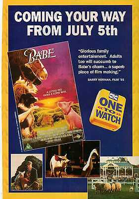 A4 Original Advert for the Video Release of Babe