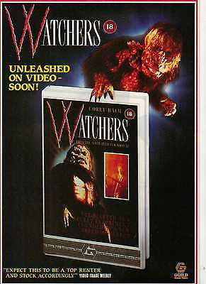 A4 Original Advert for the Video Release of Watchers