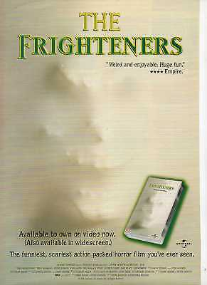 A4 Original Advert for the Video Release of The Frighteners