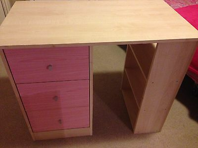 Pink And Maple Kids Desk Collection Only