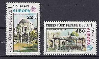 Turkish Cyprus 1978 Europa UMM MNH Pair