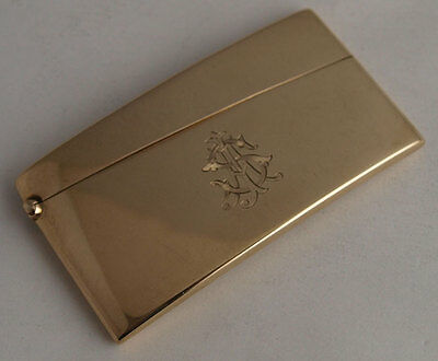 Fine George V 9ct Gold Card Case - Birm. 1923.
