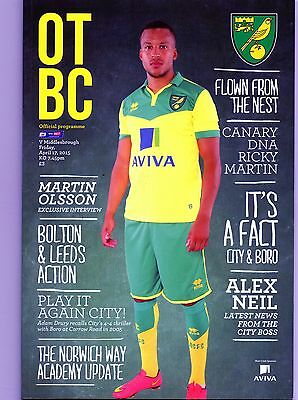 NORWICH CITY  v  MIDDLESBROUGH  2014-15