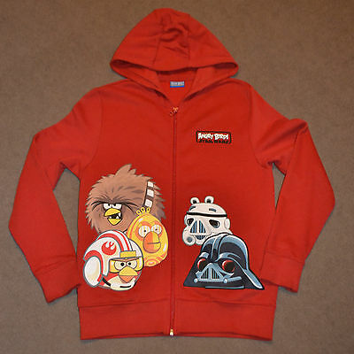 Next Boys Red Angry Birds Star Wars Zip Up Hoodie for size 12 years
