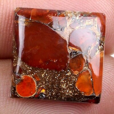 Excellent CARNELIAN COPPER MOHAVE 16x16 mm Square Cabochon Gemstone 12.5Cts eBay