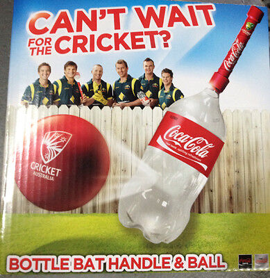 Cricket Bottle Bat Handle and Ball Coke Beach/Backyard Cricket Australia