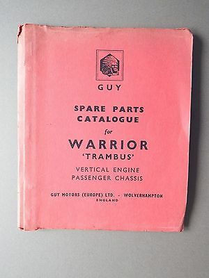 Guy Warrior Passenger Bus Chassis Spare Parts Catalogue 1961
