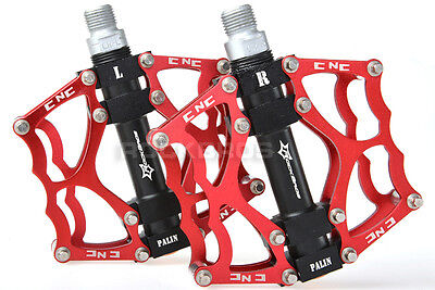 New Rockbros Bicycle Bike Pedals Cycling Sealed Bearing Pedals Red