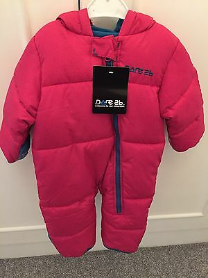 NEW 9-12 Months Baby's Pink Snow Suit. Dare 2b