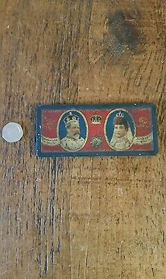 Antique Rowntree Chocolate tin for George VII coronation 1902
