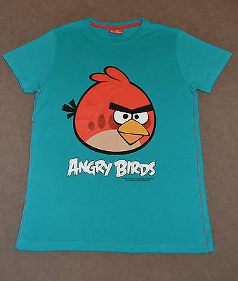 Next Teal Green Angry Birds T-Shirt size 11 years