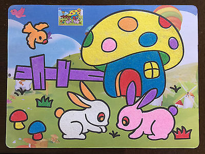 Sand Art Kit - Pack of 5 Large Sheets - 27x20.5cm - Party Educational Toy