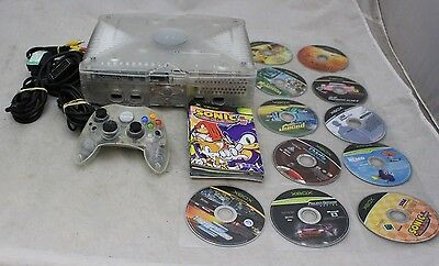 MICROSOFT XBOX Crystal Games Console with 1 Controllers & 11 Games - 207