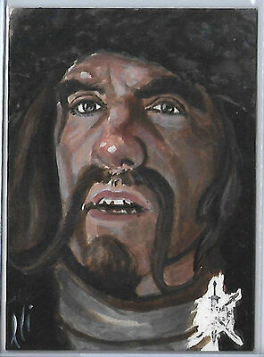 Hobbit Battle of the Five Armies 1/1 Hand Drawn Sketch of Bofur by Lee Lightfoot