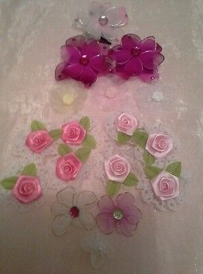 Craft  Flowers Assorted Colours and Styles Very Pretty New - Postage Available