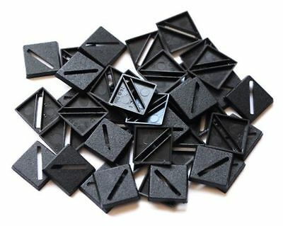 100 (One Hundred) 20mm Square Slotta Bases for Wargaming and Roleplaying New