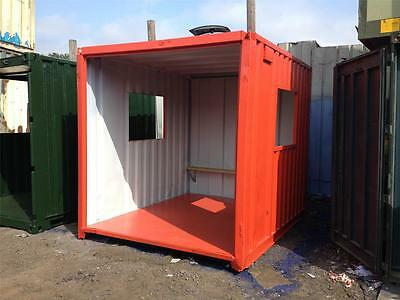10ft x 8ft Shipping Container Smoking Shelter