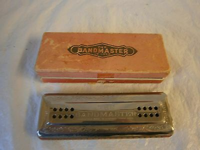 Bandmaster Deluxe Mouth Organ Harmonica Boxed