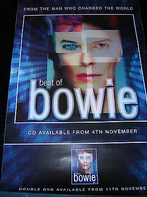 Original David Bowie Promotional Poster - Best Of Bowie