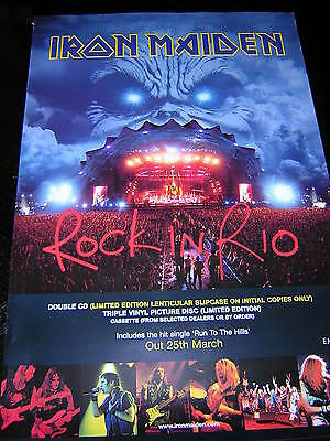 Original Iron Maiden Promotional Poster - Rock In Rio