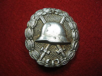 WW1 GERMAN BADGE WOUNDS IMPERIAL silver medal WWI RARE