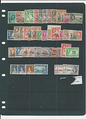 Trade Price Stamps Gold Coast Mint And Used On Hagner Sheet