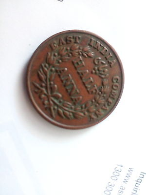 EAST INDIA COMPANY HALF ANNA 1835 Indian coin