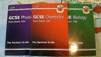 CGP GCSE Chemistry, Physics and Biology AQA Revision Guides SET OF 3