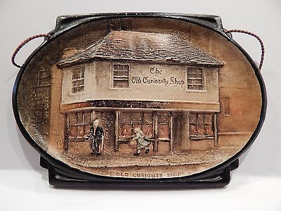"""Bretby Wall Plaque """"The Old Curiosity Shop"""""""