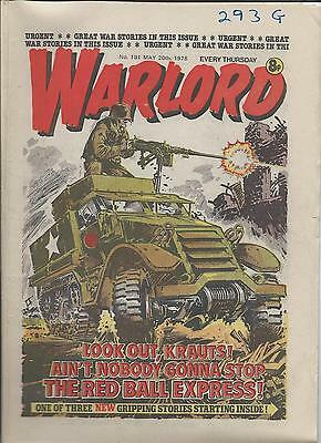 Warlord Comic number 191  May 20th 1978