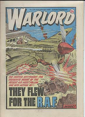 Warlord Comic number 276 January 5th 1980